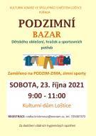 Podzimní bazar dětského oblečení
